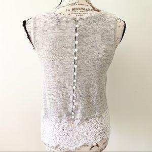 Generation Love sleeveless grey linen top